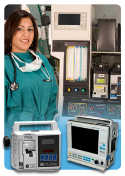 Nurse Using Ardus Medical Equipment